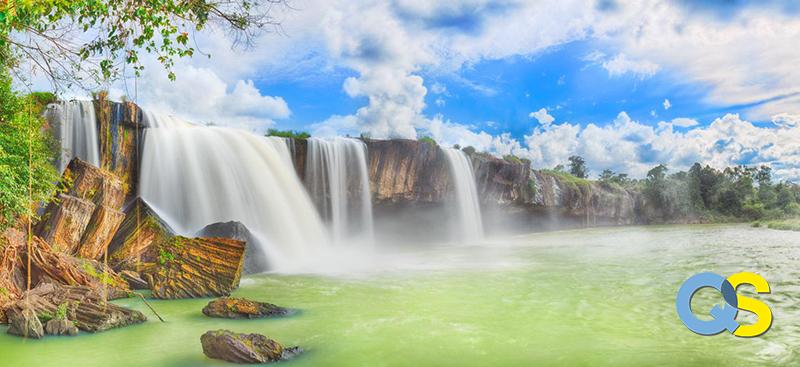 Tranh dán tường 3D thác nước QS036